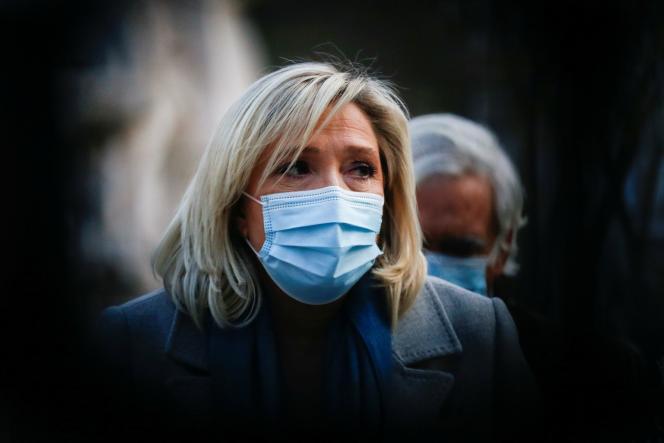 Marine Le Pen, présidente du Rassemblement national, à Lisbonne, le 8janvier.