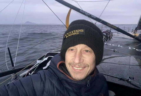 "A handout photo taken and made available by French sailor Armel Tripon on January 06, 2021, shows French sailor Armel Tripon posing aboard his Imoca 60 L'Occitane en Provence boat while sailing off the Cape Horn during the ninth edition of the Vendee Globe single-handed non-stop round-the-world sailing race. (Photo by Armel TRIPON / Armel Tripon / AFP) / RESTRICTED TO EDITORIAL USE - MANDATORY CREDIT ""AFP PHOTO /Armel TRIPON"" - NO MARKETING - NO ADVERTISING CAMPAIGNS - DISTRIBUTED AS A SERVICE TO CLIENTS"