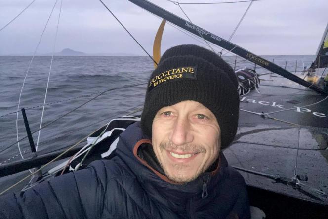 Armel Tripon, le 6 janvier lors de son passage du cap Horn.