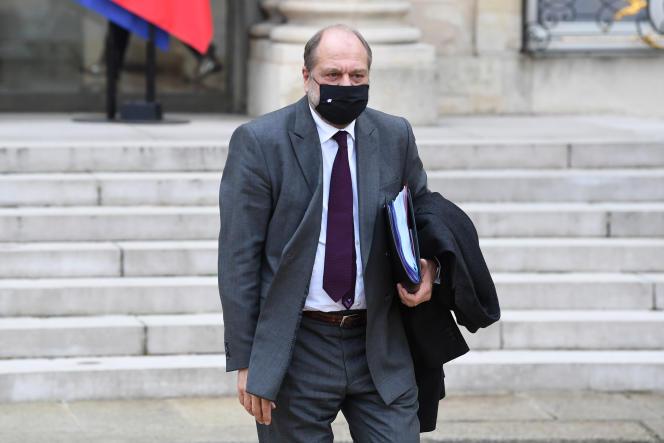 Le gardien des sceaux, Eric Dupond-Moretti, à l'Elysée le 9 décembre 2020.