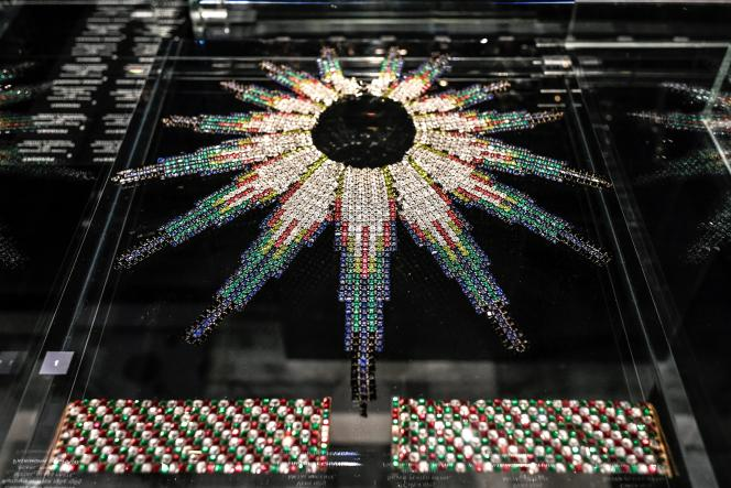Bijoux présentés à l'exposition «Gabrielle Chanel. Manifeste de mode» au Palais Galliera - Musée de la mode de la Ville de Paris, le 25 septembre 2020.