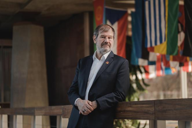 Michel Zaffran, le directeur du programme de l'OMS pour l'éradication de la poliomyélite, le 7 janvier dans les bureaux de l'OMS à Genève, s'apprête à partir à la retraite.