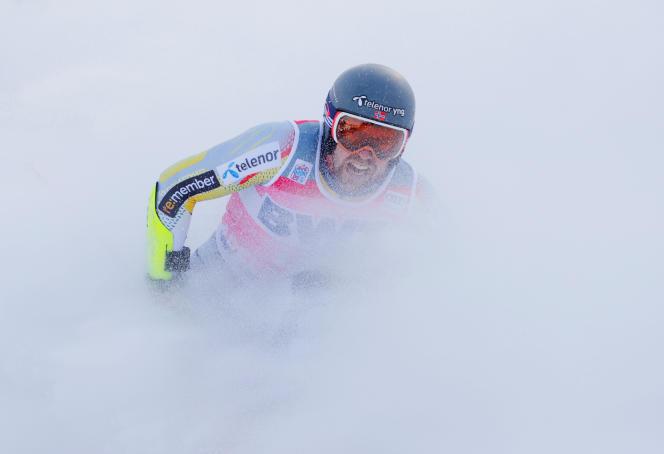Aleksander Aamodt Kilde lors du géant d'Adelboden, le 9 janvier.