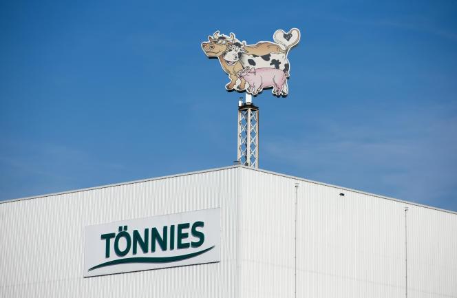 L'usine Tönnies de Rheda-Wiedenbrück (Rhénanie-du-Nord-Westphalie), en avril 2018.