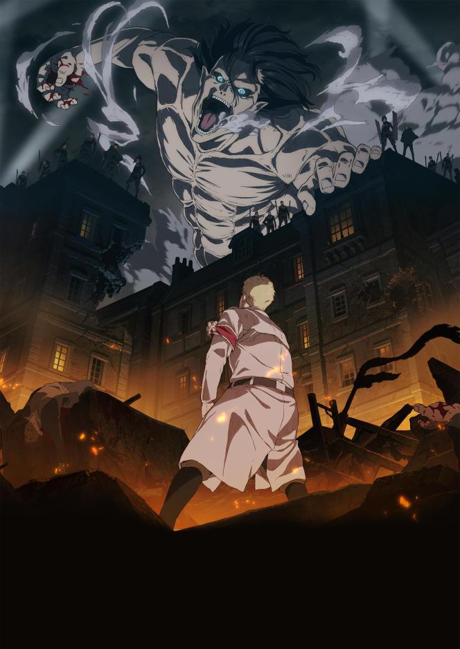Affiche de la dernière saison de «L'Attaque des Titans», diffusée sur Wakanim.