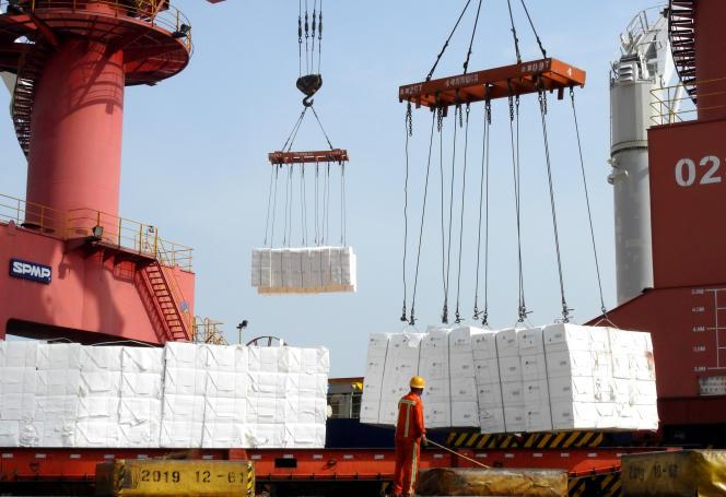 Dans le port deLianyungang(est de la Chine), le 7 juin 2020.