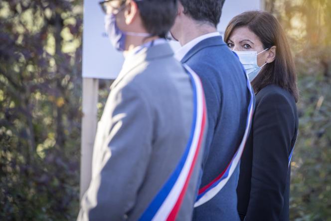 Anne Hidalgo, maire de Paris, à la cérémonie de commémoration du 50e anniversaire de la mort du général de Gaulle, le 9 novembre 2020, à Colombey-les-Deux-Eglises (Haute-Marne).
