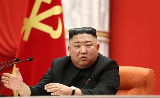 Le dirigeant nord-coréen Kim Jong-un, le 10 janvier à Pyongyang, lors du 8e congrès du Parti du travail.