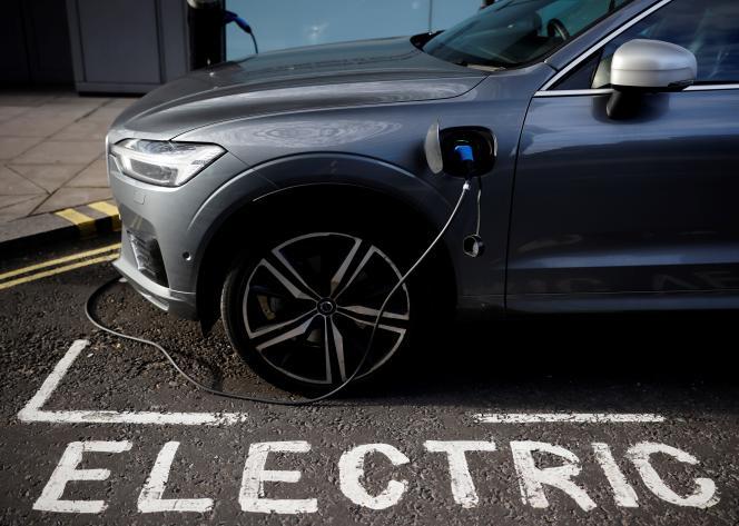 Véhicule électrique Volvo, à Londres, le 18 novembre 2020.