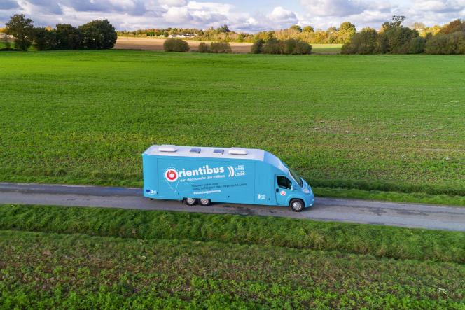 L'orientibus, ici à Janzé (Ille-et-Vilaine), le 5 novembre 2019, sillonne larégion Pays de la Loire