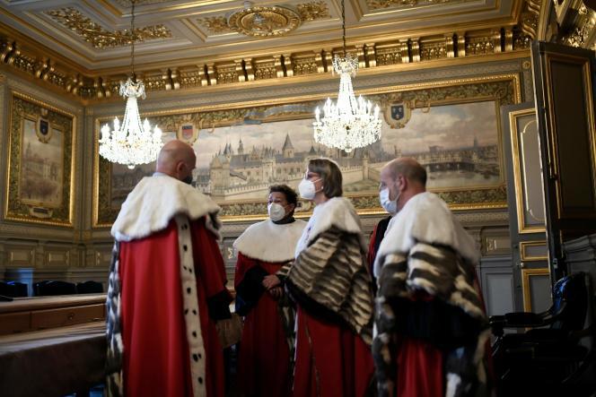 Des magistrats de la Cour de cassation, le 11 janvier.