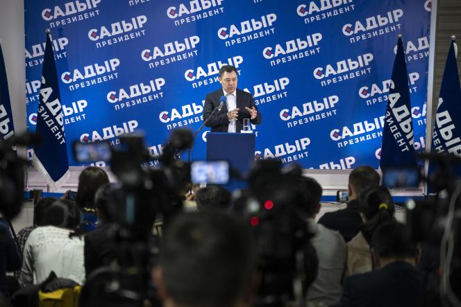 سدیر جپاروف در بیشکک ، قرقیزستان ، یکشنبه ، 10 ژانویه.
