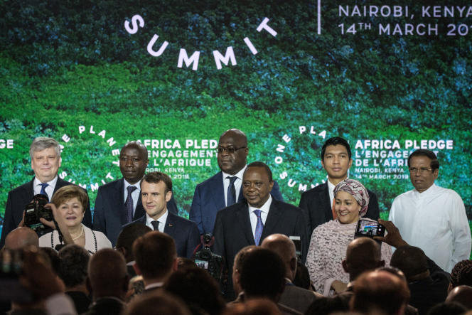 Lors du One Planet Summit à Nairobi (Kenya), le 14 mars 2019.