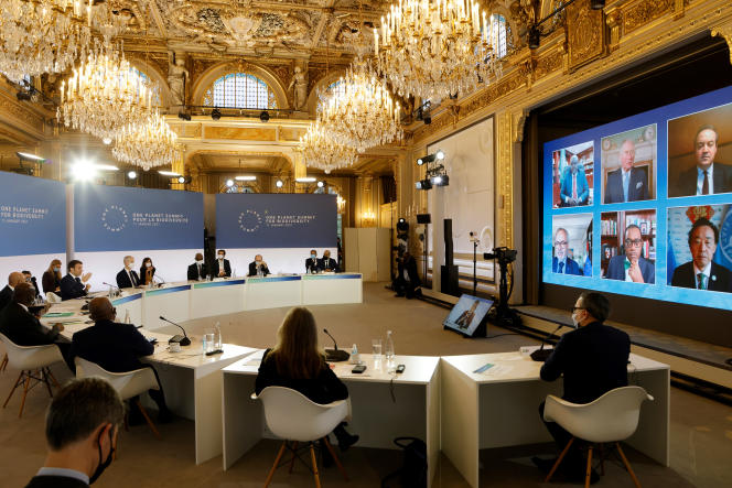 The One Planet Summit on January 11 at the Elysée.