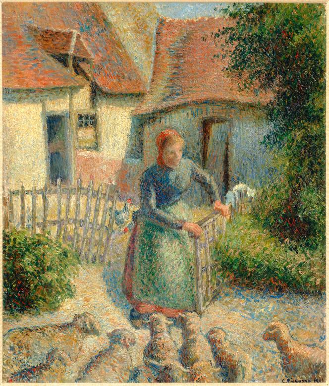 «Bergère rentrant ses moutons»(1886), deCamille Pissarro (1830-1903).