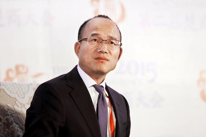 رئیس Fosun Group Guo Guangchang در 11 نوامبر 2015 در ووهان.