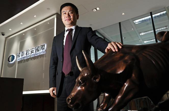 مدیر اجرایی بانک سرمایه گذاری چینی Guotai Securities ، ییم فونگ ، در فوریه 2017.