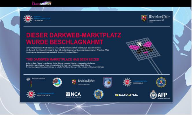 Le site DarkMarket, dont les serveurs ont été saisis par les autorités allemandes.