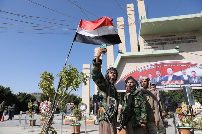 Des rebelles houthistes à Sanaa (Yemen), le 11 janvier 2021.