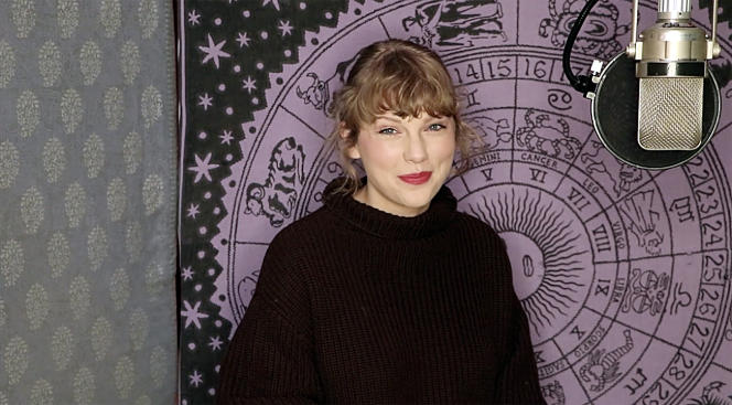 Taylor Swift, lors des American Music Awards 2020,à Los Angeles, le 22 novembre 2020.