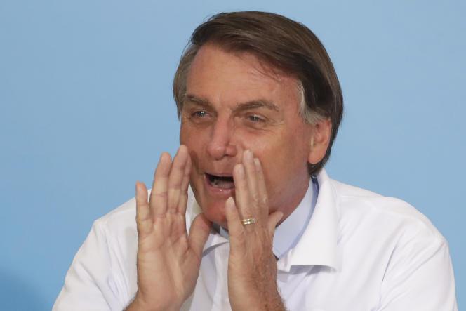 Le président brésilien, Jair Bolsonaro, à Brasilia, au Brésil, le 12janvier.
