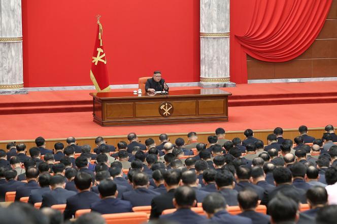 Kim Jong-un, lors du8econgrès du Parti du travail, le 10 janvier àPyongyang.