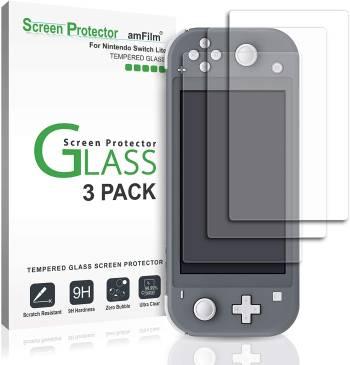 La même protection en verre, mais pour un écran de Switch Lite Protection d'écran en verre trempé amFilm pour Nintendo Switch Lite