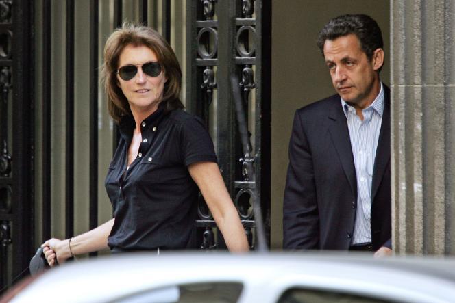 Cécilia Attias et Nicolas Sarkozy, le 22 avril 2007.