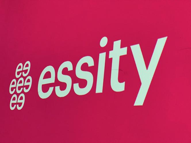 Le logo d'Essity, à Stockholm, en mai 2019.