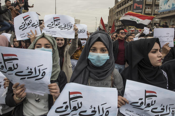 Le 9 février 2020, des milliers d'étudiants ont manifesté de l'université de Bagdad jusqu'à la place Tahrir, épicentre de la contestation irakienne, ainsi que dansd'autres villes du sud du pays.
