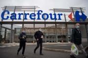 Magasin Carrefour de Saint-Herblain, près de Nantes (Loire-Atlantique), le 13 janvier 2021.