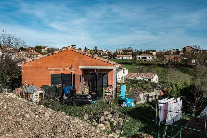 La maison de Delphine et Cédric Jubillar près de Cagnac-les-Mines (Tarn), le 22 décembre.