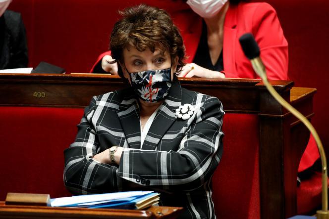 La ministre de la culture Roselyne Bachelot à l'Assemblée nationale, Paris, le 12 janvier.