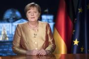 La Chancelière allemande Angela Merkel lors de son discours de nouvel an, le 30décembre 2020.
