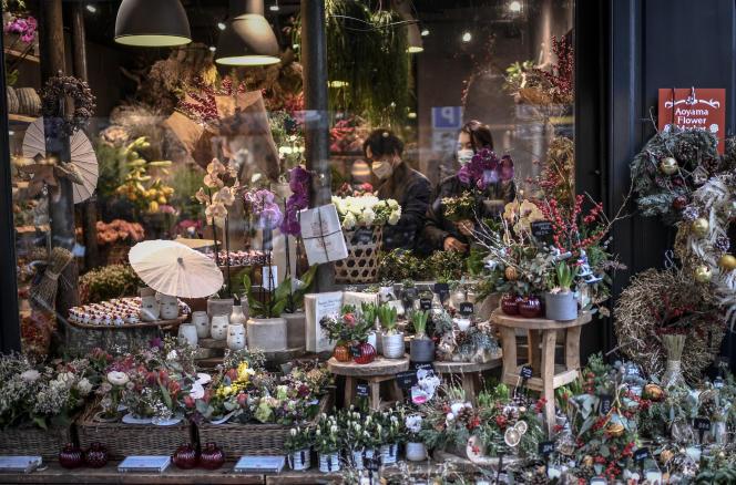 Un magasin de fleurs à Paris, le 24 décembre 2020.