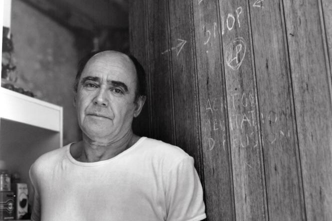 L'artiste français Louis Pons, en juillet 1991.