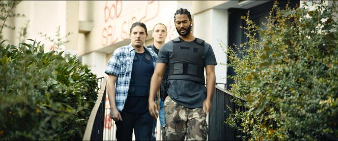 Damien Bonnard, Alexis Manenti, Djebril Zonga, flics des« Misérables» de Ladj Ly.