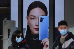 Boutique de smartphones Xiaomi à Pékin, le 15 janvier 2021.