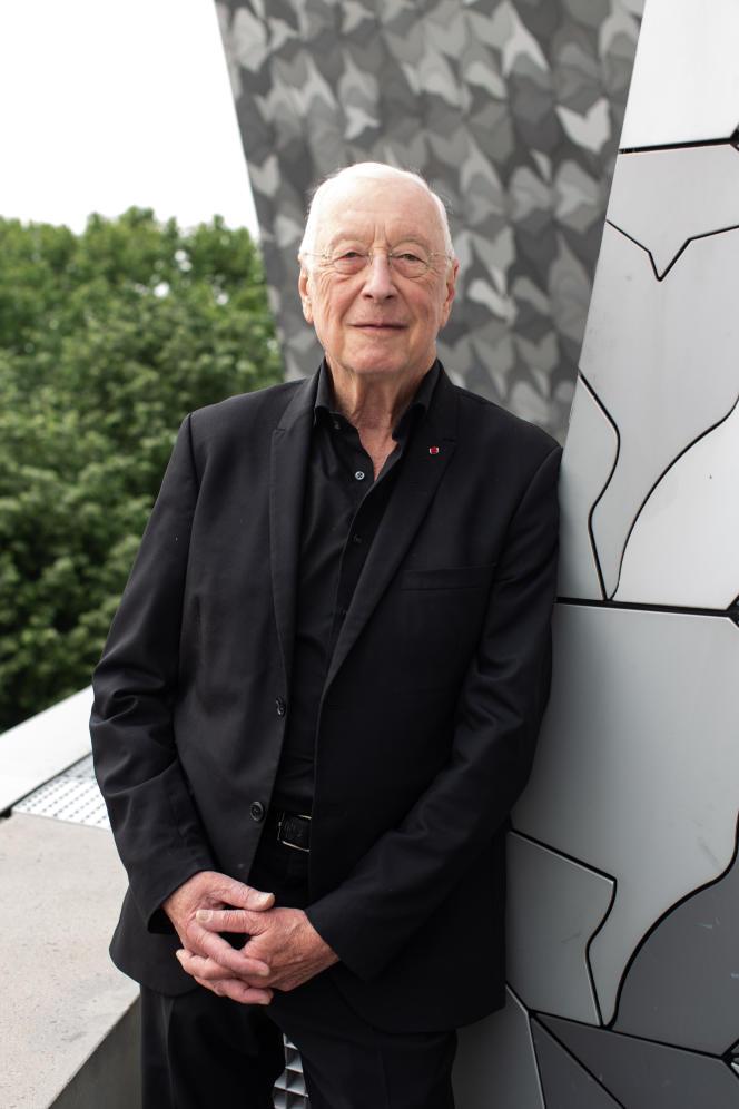 William Christie, à la Philharmonie de Paris, en mai 2019.