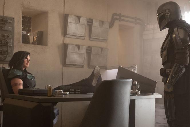 Gina Carano et Pedro Pascal dans la la série «Mandalorian».