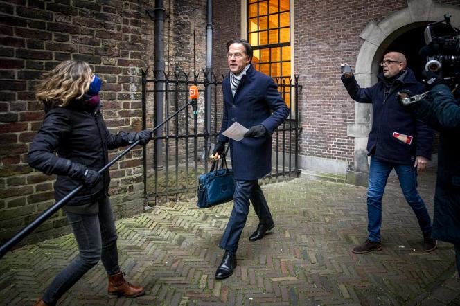 Mark Rutte à La Haye, le 15 janvier.