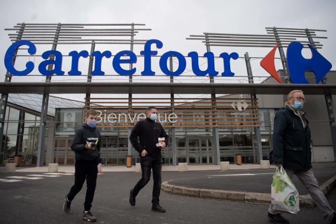 Un supermarché Carrefour, le 13 janvier, à Saint-Herblain (Loire-Atlantique).