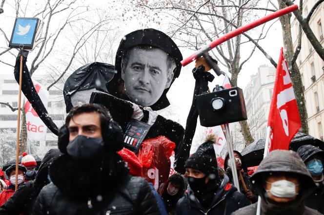Manifestation contre la proposition de loi «sécurité globale», à Paris, le16janvier.