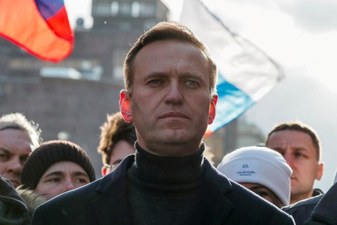 Alexeï Navalny, en février 2020, à Moscou.