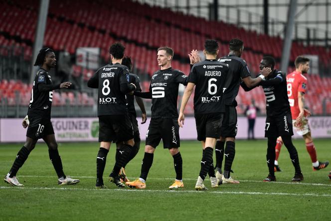 Les Rennais savourent leur succès sur la pelouse de Brest (1-2), dimanche 17 janvier, lors de la 20e journée de Ligue 1.
