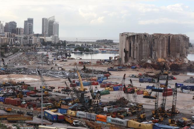 Vue du port de Beyrouth, le 9 décembre 2020, où où s'est produit l' explosion du 4 août 2020.