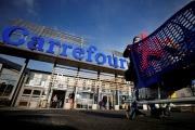 Une enseigne Carrefour, à Saint-Herblain (Loire-Atlantique), le 15 janvier.