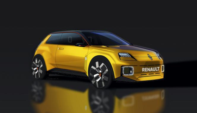 Prototype de la future Renault 5 électrique.