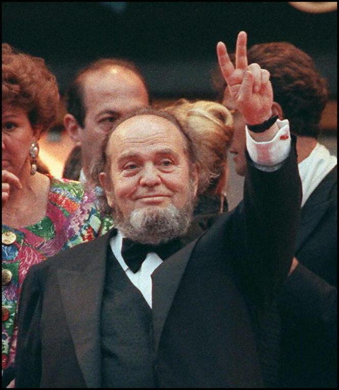 Marco Ferreri, le 13 mai 1991, au Festival de Cannes.