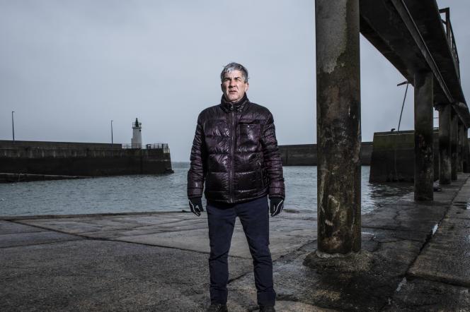 Le cinéaste Alain Guiraudie àQuiberon (Morbihan), en Janvier 2021.
